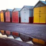 Brighton Beach Huts by author Sarah Rayner