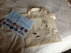 Gorgeous festival bag & programme
