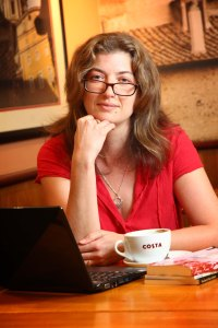 Jenny Kane at Costa Coffee talking about her new book.